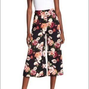LOVEFIRE Floral Wide Leg Cropped Pant L